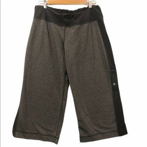 Lululemon wide leg crop leggings pants size 12